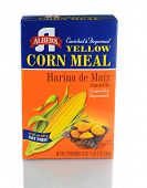 IRVINE, CA - JANUARY 11, 2013: A 20 oz box of Albers Yellow Corn Meal. Introduced in 1895 by Bernhar