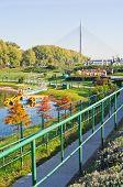 stock photo of railcar  - Ada lake at sunny morning - JPG