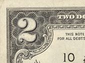 foto of two dollar bill  - Two dollar bill close - JPG
