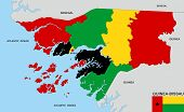foto of guinea  - very big size guinea bissau country political map - JPG