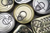 image of hermetic  - Different types of cans of canned food closed - JPG