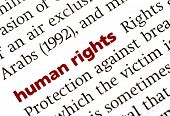 stock photo of human rights  - Dictionary definition of human rights - JPG