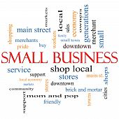 picture of local shop  - Small Business Word Cloud Concept with great terms such as shop local community support stores and more - JPG