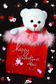 Valentine bag with teddy bear