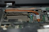 pic of cpu  - very dusty fan for the CPU of the laptop - JPG