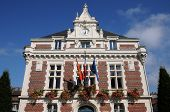 France, The Historical City Hall Of Villers Ur Mer