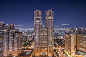 TOKYO, JAPAN - DECEMBER 22, 2012: Metropolitan Government Building of Tokyo, Japan which houses the