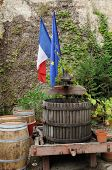 foto of wine-press  - France wine press in the city of Saint Emilion in Aquitaine - JPG