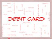 Debit Card Word Cloud Concept On A Whiteboard
