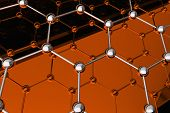 picture of graphene  - 3D Model of Graphene Technology Molecule Structure - JPG