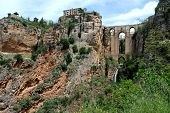 New bridge and gorge, Ronda, Spain.