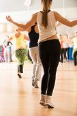 stock photo of bum  - Dance class for women at fitness centre - JPG