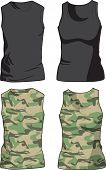 pic of camo  - Black and Military Shirts front view template - JPG