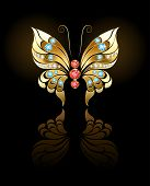 pic of precious stone  - butterfly jewelry made  - JPG
