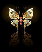 stock photo of precious stone  - butterfly jewelry made  - JPG