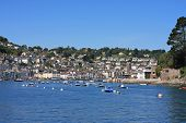 picture of dartmouth  - town of Dartmouth by the River Dart - JPG