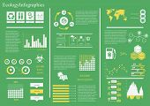 picture of sustainable development  - Vector set of infographic elements - JPG