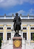 picture of leipzig  - Goethe statue in front of the old trade exchange in Leipzig Saxony - JPG