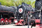 pic of locomotive  - Photo of Russian rail road locomotive in Samara - JPG