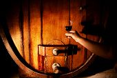 Постер, плакат: Photo of Wine Maker with Glass of wine