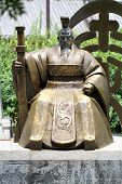 stock photo of qin dynasty  - The statue of the greatest first China emperor  at Xi - JPG