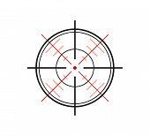 picture of crosshair  - crosshair of the gun on white background vector - JPG