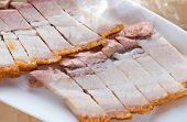 picture of pork belly  - Close up Chinese roasted pork - JPG
