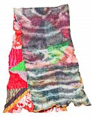 pic of batik  - patchwork and batik scarf isolated on white background - JPG