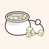 stock photo of sugar cube  - Sugar Cubes Theme Elements Vector - JPG