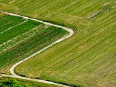 stock photo of golan-heights  - Crossroads and Fields agriculture country land farming - JPG