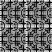 stock photo of quadrangles  - Design seamless monochrome warped zigzag pattern - JPG