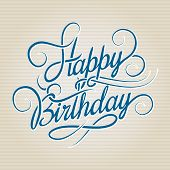 pic of letter  - Happy Birthday hand drawn lettering - JPG