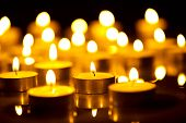 image of glow  - Candles light background - JPG