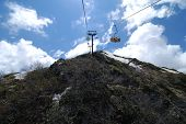 image of sochi  - Cable car on the top of Mountains near Sochi - JPG