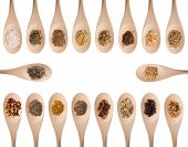 foto of garam masala  - Various herbs and spices isolated on white - JPG