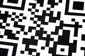 picture of qr-code  - Abstract QR Code design illustration with black and white pixels in a square frame - JPG