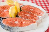 foto of salmon steak  - Salmon - JPG