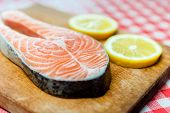 stock photo of fish  - Salmon - JPG