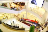 picture of department store  - Blur or Defocus image of People Shopping in Department Store or shop Plaza - JPG