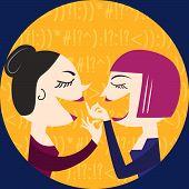 image of homemaker  - Gossiping Women - JPG