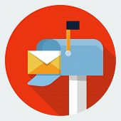 pic of mailbox  - Vector mailbox icon - JPG