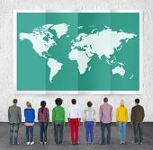 stock photo of globalization  - World Global Business Cartography Globalization International Concept - JPG