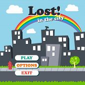 picture of asset  - city view game asset theme vector art illustration - JPG