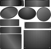 picture of plaque  - set of black plaques with texture  - JPG