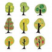 pic of banana tree  - Garden fantasy trees set  - JPG