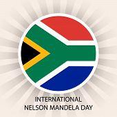 stock photo of nelson mandela  - illustration of a Flag for International Nelson Mandela Day - JPG