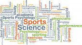 foto of academia  - Background concept wordcloud illustration of sports science - JPG