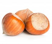 image of hazelnut  - Hazelnuts close - JPG