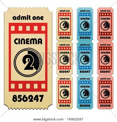 Постер, плакат: билеты в кино вектор, холст на подрамнике