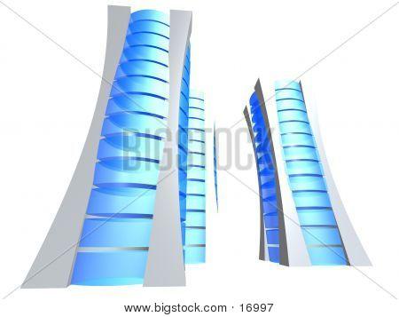 Three 3d Servers poster